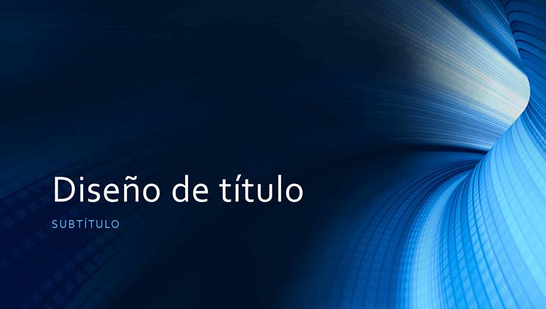Presentación empresarial de túnel azul digital (panorámica)