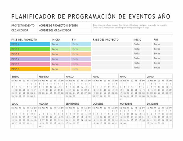 Planificador de eventos