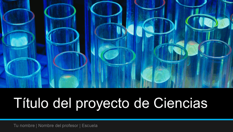 Presentación para un proyecto de ciencias (panorámica)