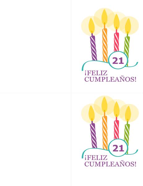 Tarjetas de cumpleaños especiales (2 por página, para Avery 8315)