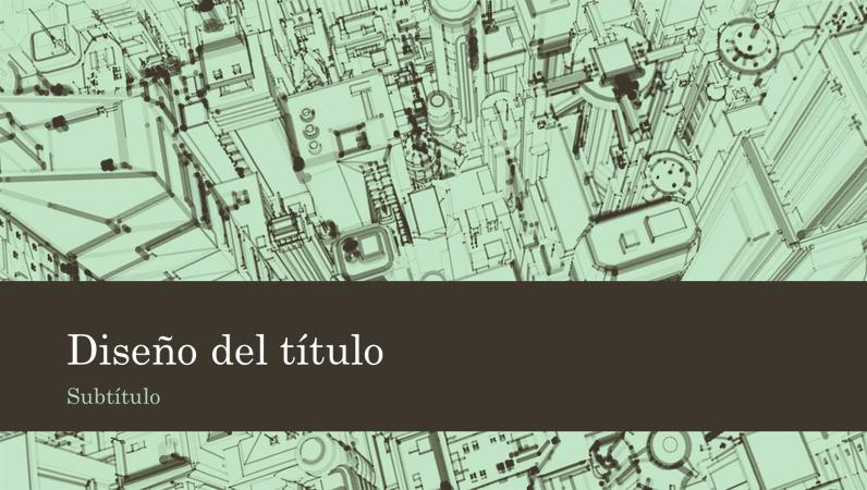 Fondo de presentación de un boceto de una ciudad con oficinas empresariales (pantalla panorámica)