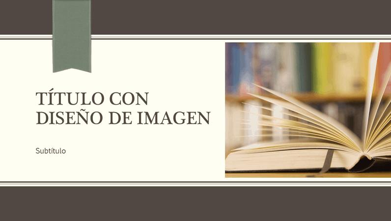 Presentación académica, diseño de rayas finas y cintas (panorámica)