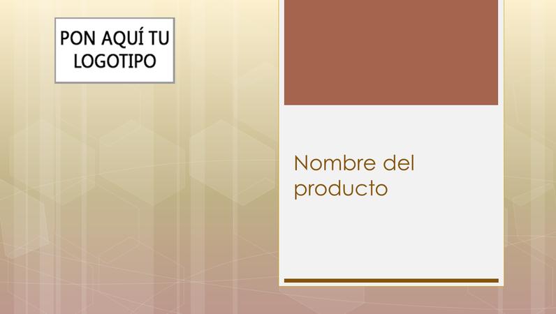Presentación de información general del producto de empresa