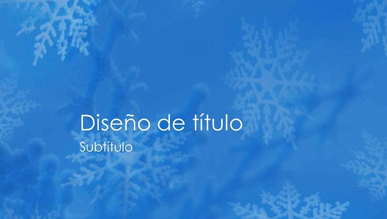 Diapositivas del diseño Copos de nieve