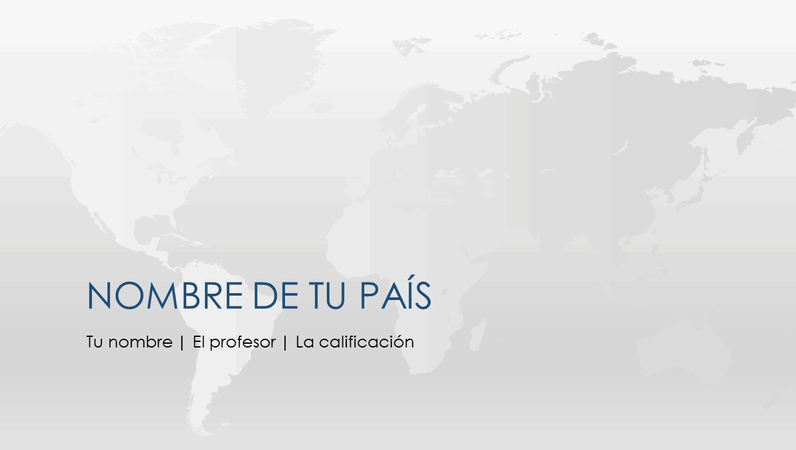Presentación de informe sobre países del mundo