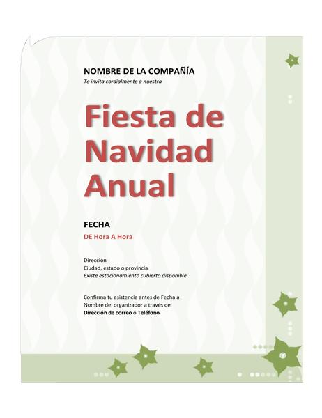 Invitación a fiesta de Navidad de la compañía
