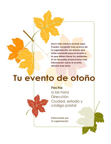 Prospecto de evento de otoño (con hojas)