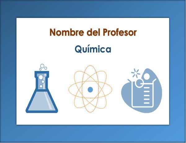 Inicio de sesión de clase (química)