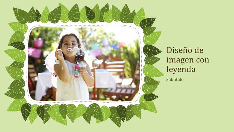 Álbum de fotografías familiares (diseño de naturaleza de hojas verdes)