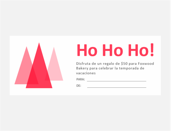 Cupones de regalo navideños ¡Jou, jou, jou!