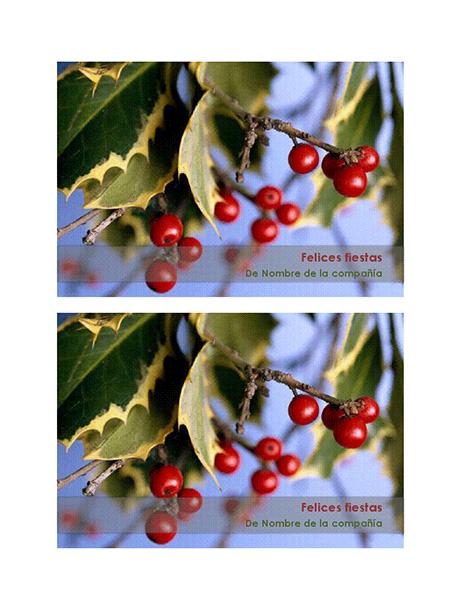 Postales de Felices Fiestas de empresa (2 por página)
