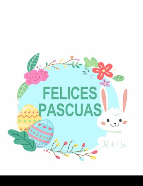 Tarjeta de Pascua (doblez en cuatro)
