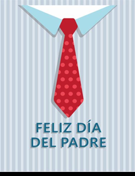 Tarjeta de felicitación del Día del Padre (pesca, que se dobla en cuatro partes)