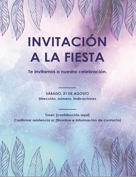 Prospecto de invitación a una fiesta