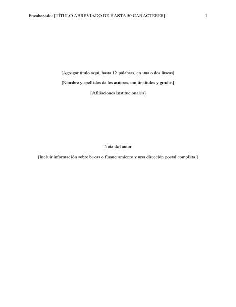 Informe de estilo APA (6.ª edición)