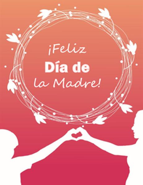 Tarjeta del Día de la Madre (con una amapola; se dobla en cuatro partes)