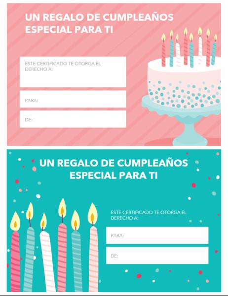 Tarjeta de regalo de cumpleaños (diseño brillante)