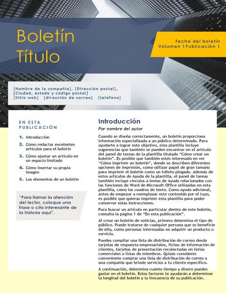 Boletín para empresas (4 páginas)