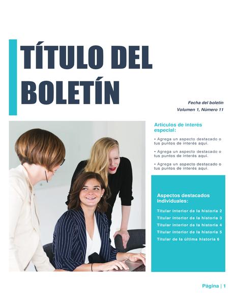 Boletín (diseño Simple, 4 col., 6 pág.)