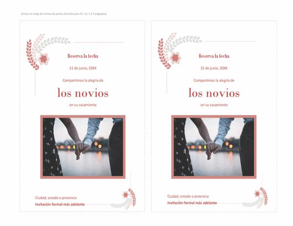 Tarjeta de invitación (con espacio para fotos)