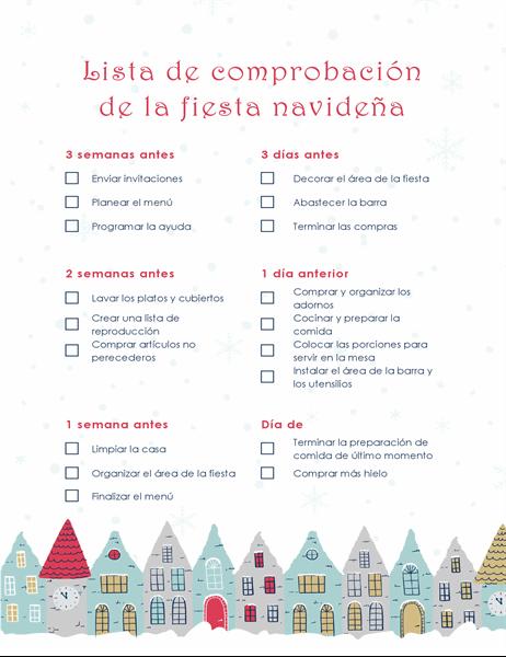 Lista de comprobación de la fiesta de Navidad