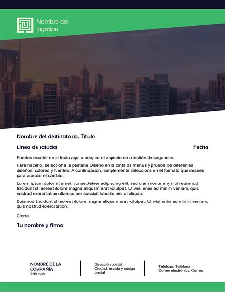 Carta comercial (diseño de bosque verde)