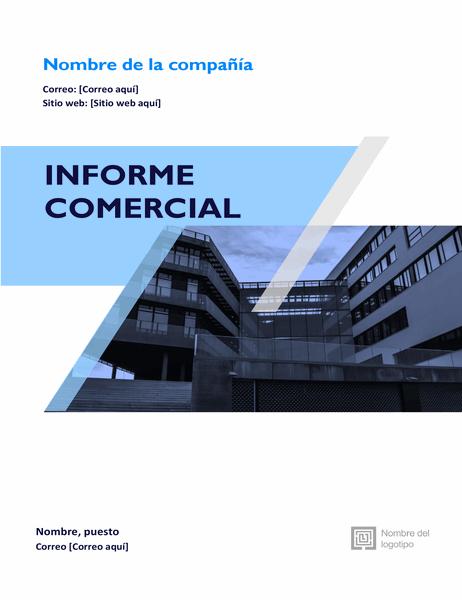 Informe comercial (diseño gráfico)