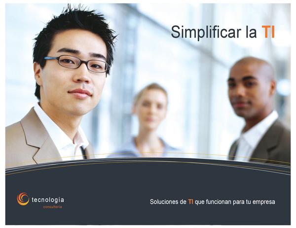 Póster de empresa de tecnología (horizontal)