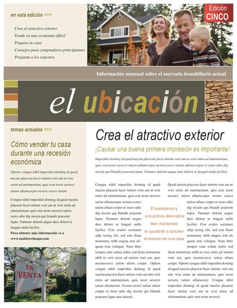 Boletín del sector inmobiliario (4 páginas)
