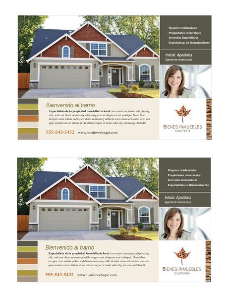 Folleto de bienes raíces (media página, 2 por página)