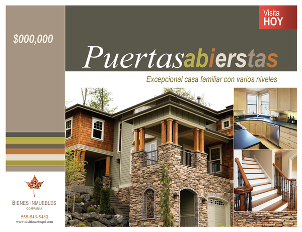 Póster de empresa inmobiliaria (horizontal)