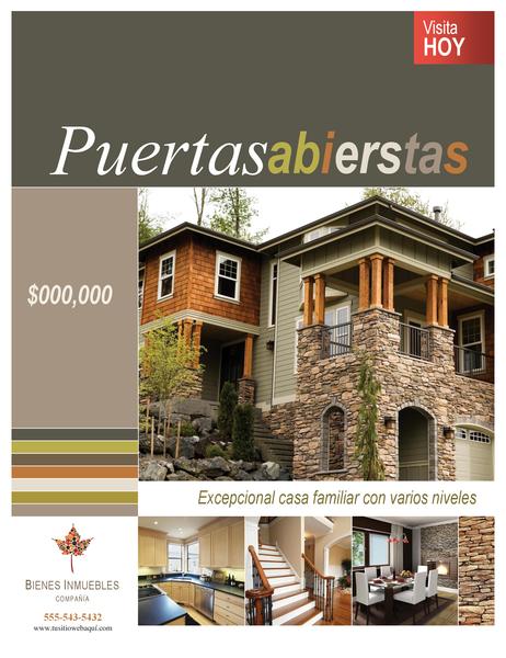 Póster de empresa inmobiliaria (vertical)