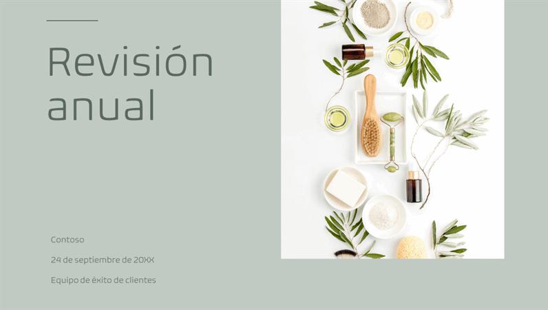 Presentación minimalista con colores