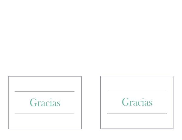 Notas de agradecimiento de bodas (dos por página)