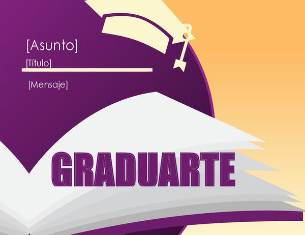 Tarjeta de felicitaciones para graduados