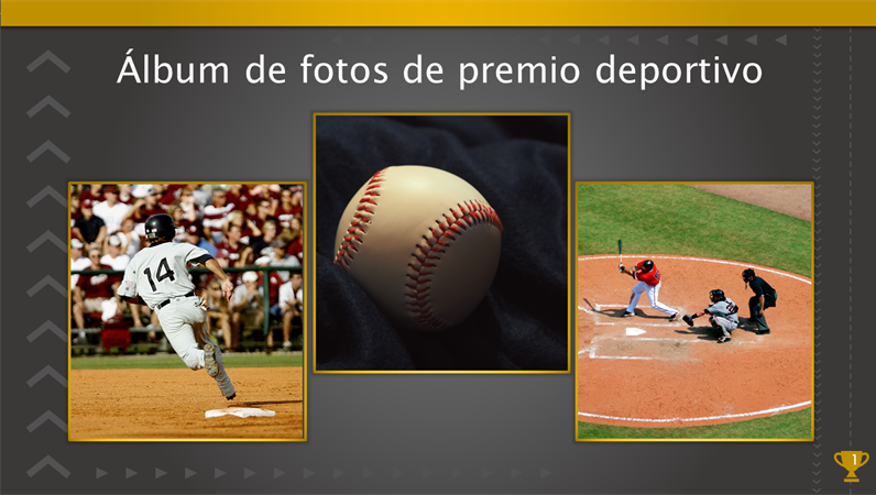 Álbum de fotos de premio deportivo