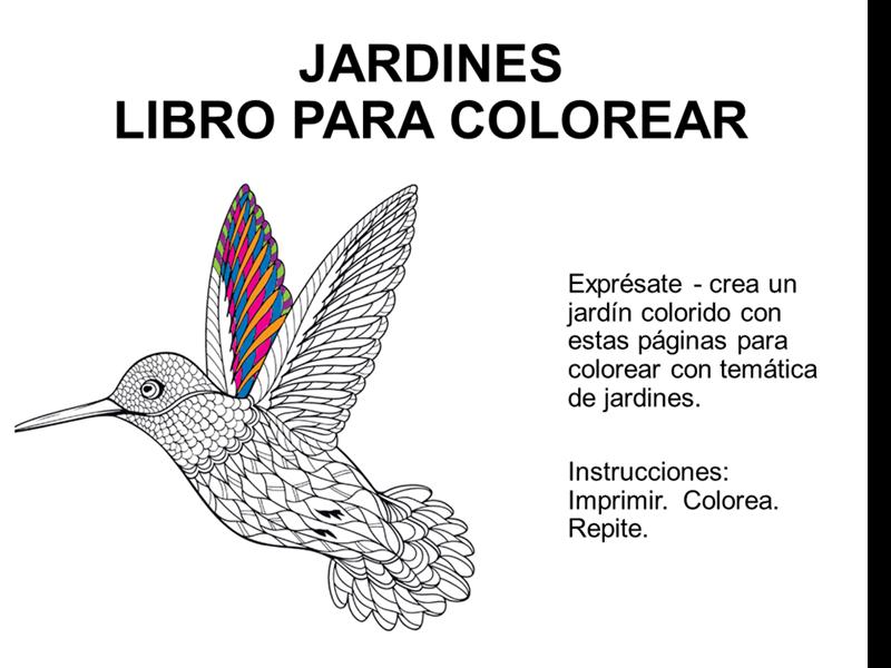 Libro para colorear Jardines