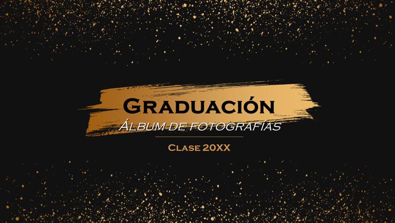 Álbum de fotos de graduación oscuro