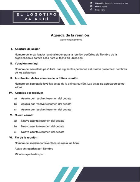Agenda con un diseño de dos rayas