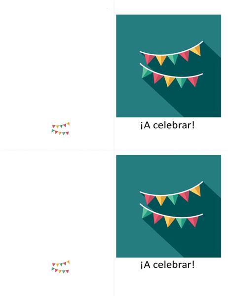Tarjeta de celebración tema escribano