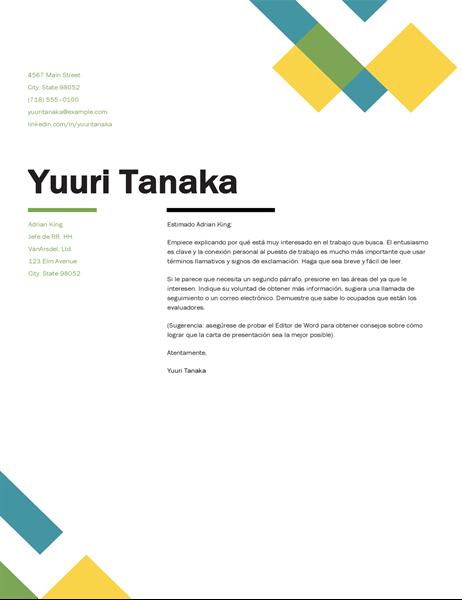 Carta de presentación geométrica