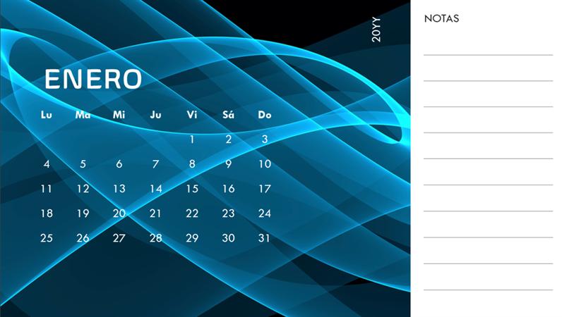 Calendario fotográfico de imágenes abstractas