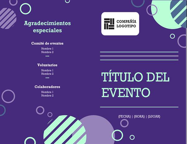 Programa del evento de la compañía