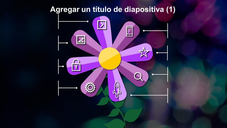 Diapositivas de flores animadas