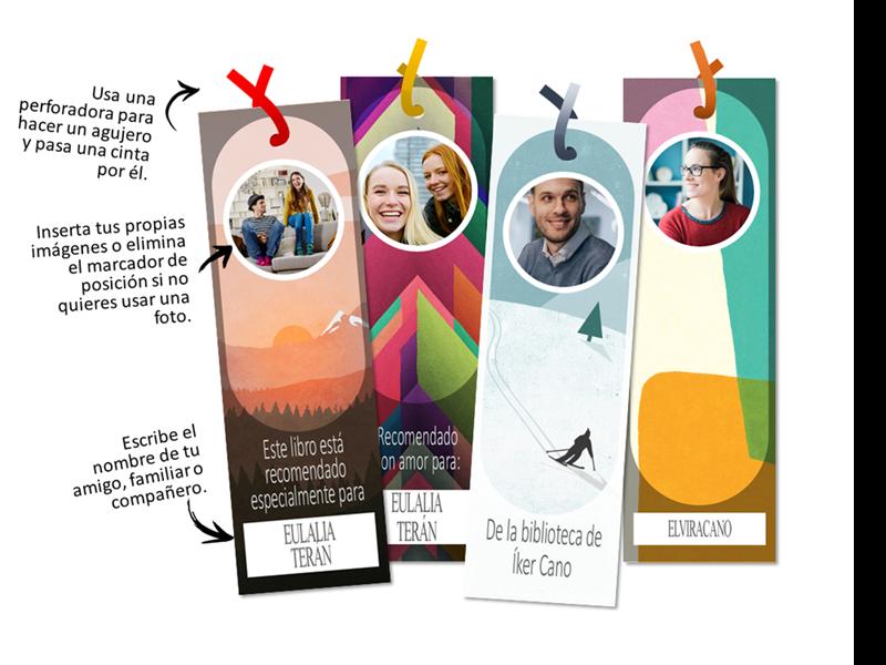 Marcadores de libros personalizables