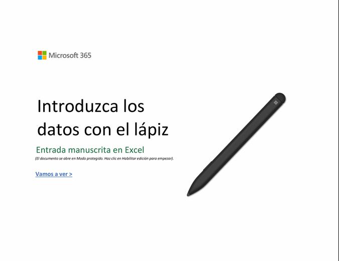Te damos la bienvenida a Excel