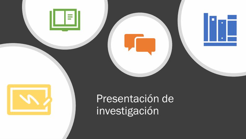 Presentación de investigaciones