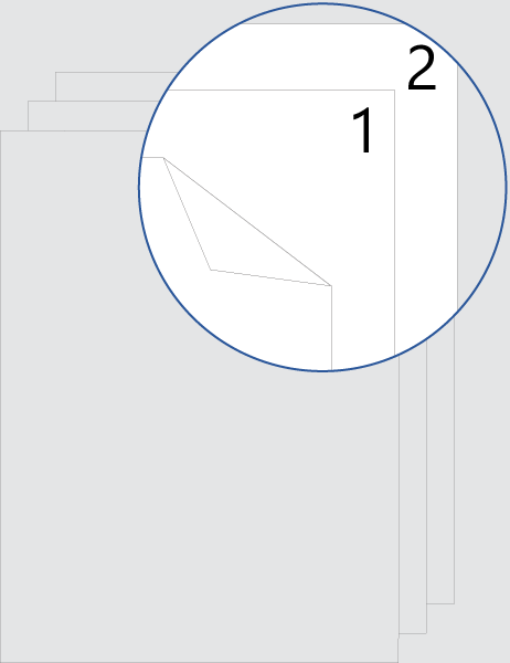 Numeración de páginas de portada a doble cara (arriba)