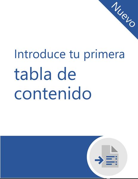 Tutorial para insertar tu primera tabla de contenido
