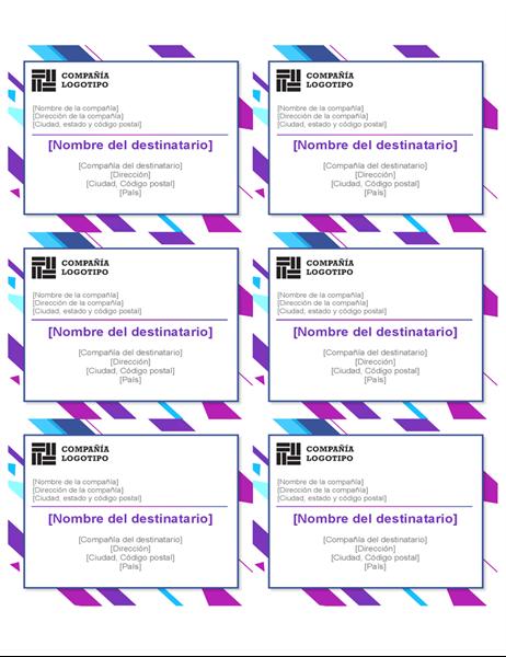 Etiquetas de gráfico púrpura (6 por página)